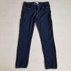 No Boundaries dark wash skinny jeans sz 9